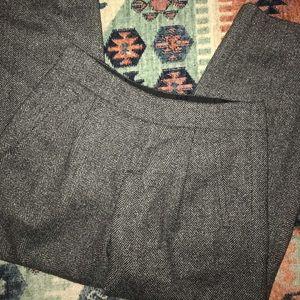 Alice + Olivia Wool Hart Herringbone Tweed Pants